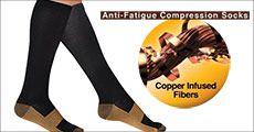 1 par kobber-kompressions strømper fra Stonevang Products, værdi kr. 199,-