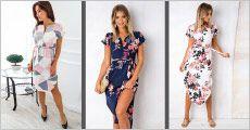 1 stk. kjole med flot grafisk print, fås i flere modeller og størrelser, værdi kr. 489,-