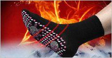 1 par sokker med tourmaline FIR massage pads fra The 99 inspirations, værdi kr. 169,-
