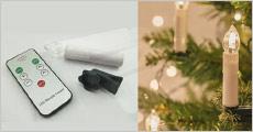 Trådløse juletræslys inkl. fjernbetjening og clips fra Shoppio, vælg ml. flere sæt, værdi op til kr. 1197,-