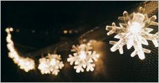 Lyskæde med snefnug fra Shoppio, værdi kr. 279,-