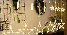 2,5 meter lyskæde med små og store stjerner fra Shoppio, værdi kr. 299,-