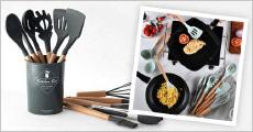Køkkensæt med 11 dele fra Shoppio, vælg ml. flere farver, værdi kr. 499,-