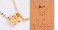 1 stk. halskæde med stjernetegns vedhæng forhandlet fra Shoppio, værdi kr. 199,-