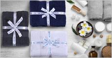 Håndklæder i bomuld forhandlet fra Bed & Bath Textile, vælg ml. 3-6 stk. samt 3 flotte farver, værdi op til kr. 999,-