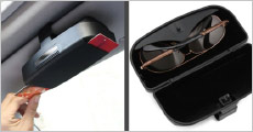 Få denne smarte kreditkort- og solbrilleholder til din bil, forhandlet af Try Us, værdi kr. 359,-