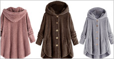 Få 1 stk. blød fleece jakke med hætte forhandlet fra The 99 inspirations, vælg ml. flere farver og str., værdi kr. 719,-