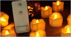 Lys er lig med HYGGE! Få 12 stk. mini LED-lys forhandlet fra Shoppio, vælg mellem gul eller hvid flamme, værdi kr. 349,-