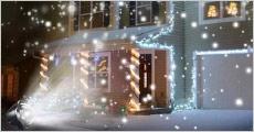 Køb 1 stk. smart LED-snelampe forhandlet fra Shoppio. Skab din egen julestemning samt dine egne snefnug, værdi kr. 449,-