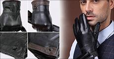 Køb 1 par fåreskinds læder-handsker til mænd forhandlet fra The 99 inspirations, vælg ml. 2 flotte modeller, værdi kr. 499,-