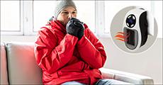 Få 1 stk. elektrisk varmeblæser til stikkontakt og hold varmen -  forhandlet fra Shoppio, værdi kr. 499,-