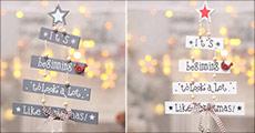 Køb 1 stk. super fin juledekoration i træ forhandlet fra Shoppio, vælg ml. 2 farver, værdi kr. 189,-