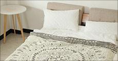 Køb flot mønstret sengetæppe hos Shoppio, vælg ml. 2 størrelser, værdi op til kr. 759,-