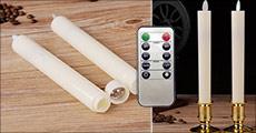 Få flotte LED-lys med bevægelig flamme forhandlet fra Bærbar, vælg ml. flere stk. samt farver, værdi op til kr. 596,-