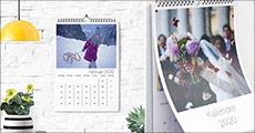 Super gaveide! Lav din egen kalender med skønne billeder. Du får 2 stk. Fotokalender Deluxe str. A3 inkl. silkeomslag og levering. Værdi kr. 424,-