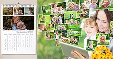 Årets gaveide! Lav din egen kalender med dine yndlingsbilleder. Du får 1 stk. Fotokalender Deluxe str. A3 inkl. silkeomslag og levering. Værdi kr. 224,-