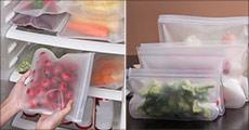 Den miljøvenlige, praktiske og billige løsning. Du får 3 stk. genanvendelige poser til fødevarer, str. S, M og L. Værdi kr. 259,-