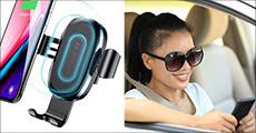 Få 1 stk. QI mobilholder til bilen forhandlet fra Smileyphone, værdi kr. 299,-