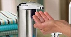 Køb 1 stk. sæbedispenser forhandlet af The 99 inspirations, værdi kr. 669,- Hold hænderne rene og fri for snavs og bakterier!
