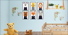 Perfekt til børneværelset eller til dig, der elsker dyr. Du får 6 stk. plakater. Normalpris kr. 944,-