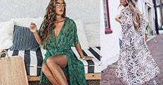 Modeverdenens helt store MUST-HAVE. Flot og sommerlig kimono til en værdi af kr. 489,-