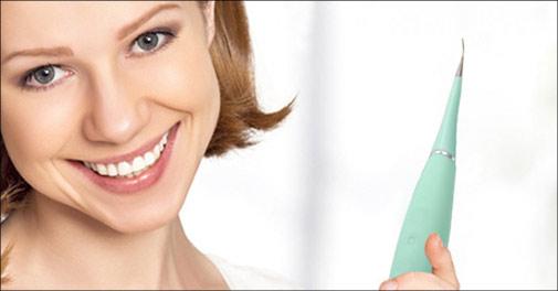 Nu kan du få renset dine tænder derhjemme. 1 stk. elektrisk tandrenser, fås i flere farver, værdi kr. 599,-