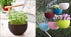 Fremhæv din yndlingsplante i en smart plantekurv fra The 99 inspirations. Fås i flere farver. Værdi kr. 379,-