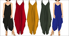 Godt nyt til dig og klædeskabet - flot buksedragt fra The 99 inspirations, vælg mellem flere forskellige farver, værdi kr. 619,-