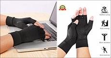 Er du gigtplaget i fingrene - Få reduceret smerter med kompressionshandsker med kobber. Normalpris kr. 259,-