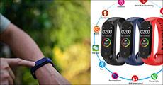 Smart Fitness-ur der måler skridt, kalorieforbrænding, søvn, puls mm. Normalpris kr. 499,-