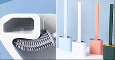 Antibakteriel toiletbørste i silikone - vælg mellem flere farver. Værdi kr. 389,-