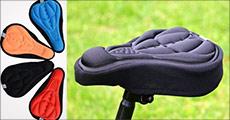Sid blødt og komfortabelt - 1 stk. 3D cykel sadel cover fra The 99 Inspirations, fås i flere farver. Værdi kr. 199,-