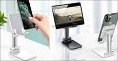 Praktisk og bekvemmeligt - 1 stk. universal mobilholder til bordet, vælg mellem 2 farver. Værdi kr. 389,-