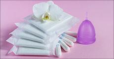 Erstat tamponer og bind med en menstruationskop. Du får 1 stk. værdi kr. 220,-